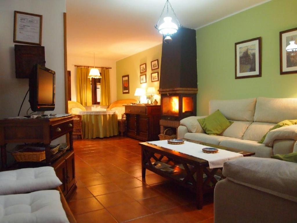 Zona de estar de Casa Rural La Fresneda