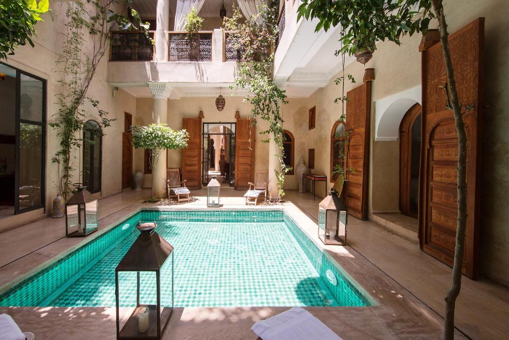 The swimming pool at or near Riad Dar Justo Hotel Boutique & Spa