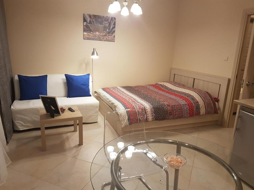 A bed or beds in a room at Apartment Kamenka