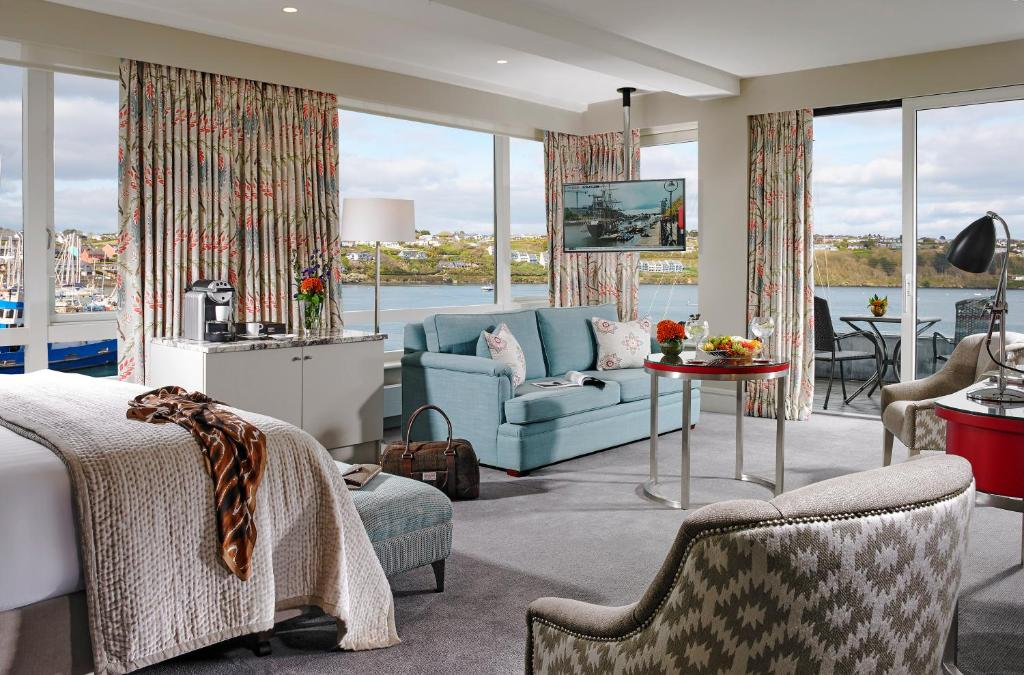 A seating area at Trident Hotel Kinsale