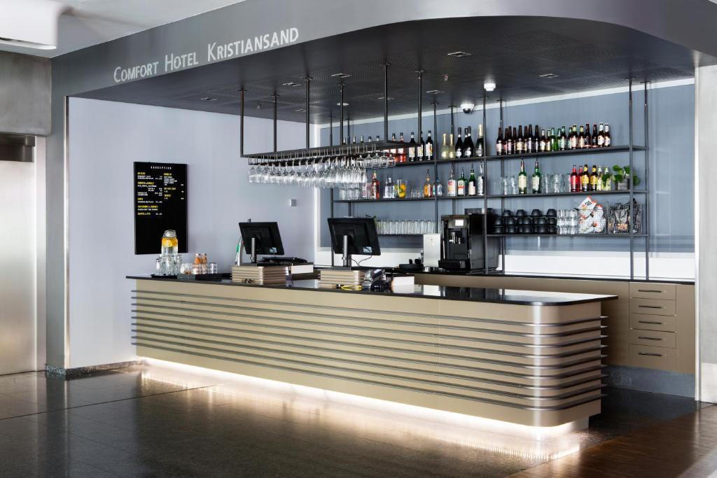 Loungen eller baren på Comfort Hotel Kristiansand