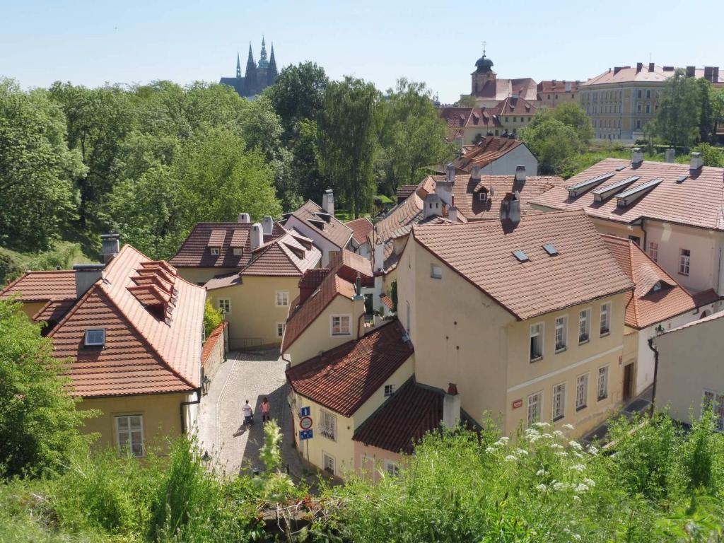 Vue panoramique sur l'établissement Apartment at the Golden Ram