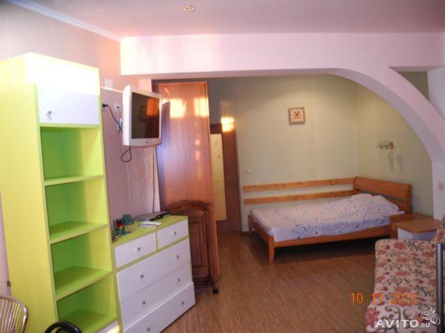 """Кровать или кровати в номере """"Русалочка"""""""