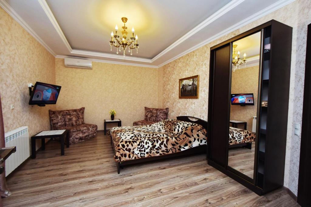 Кровать или кровати в номере Guest House Magnolya