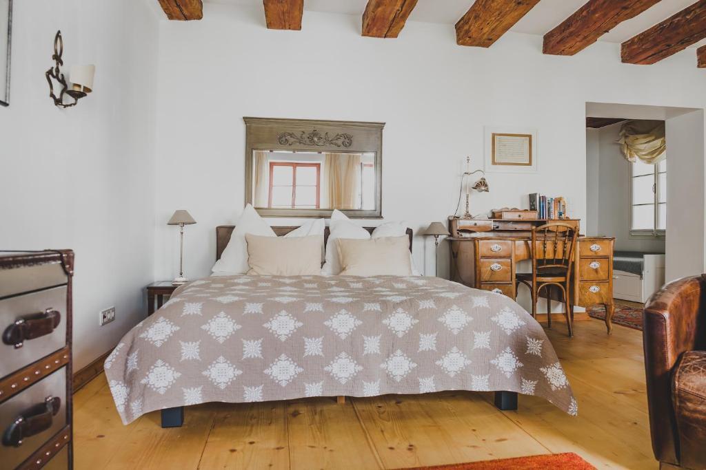 Ein Bett oder Betten in einem Zimmer der Unterkunft Salzburg Place to Stay
