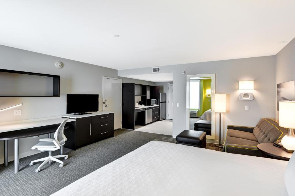 A room at the Home2Suites Azusa.