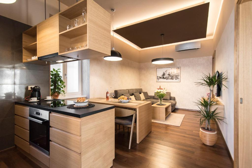 A kitchen or kitchenette at Luxury Apartments Centre of Opatija