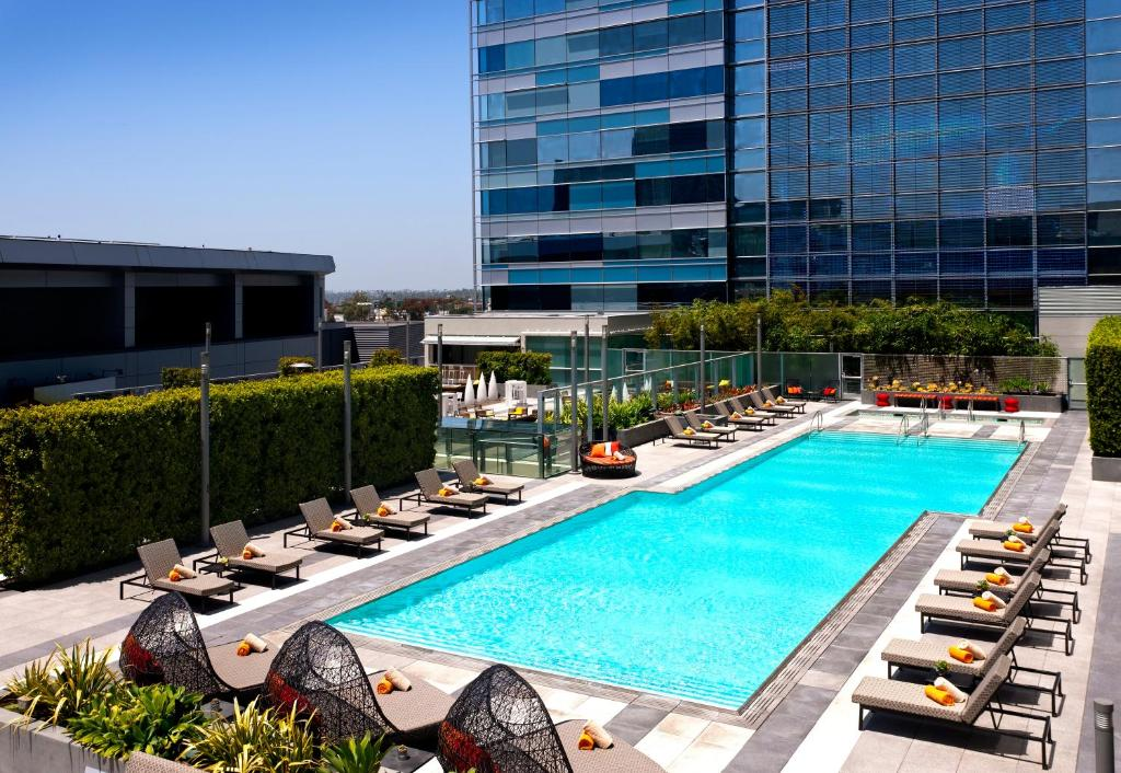 The swimming pool at or near JW Marriott Los Angeles L.A. LIVE