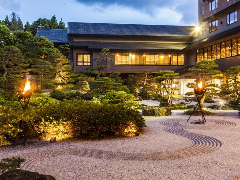 The building where the ryokan is located