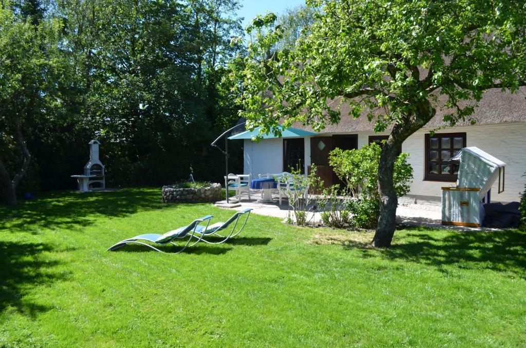 Ein Garten an der Unterkunft Ferienhaus unter Reet