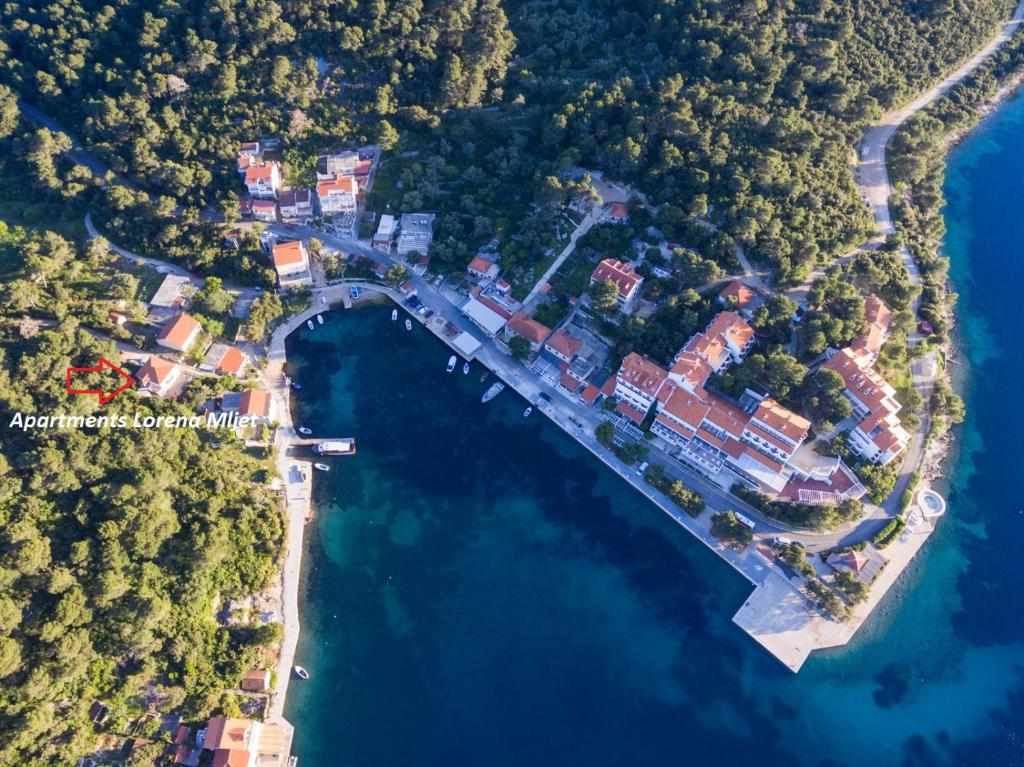 A bird's-eye view of Apartments Lorena Mljet