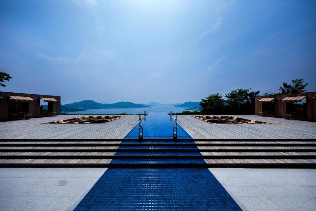 The swimming pool at or near Bella Vista Spa and Marina ONOMICHI