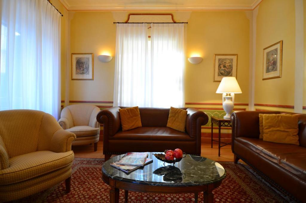 Χώρος καθιστικού στο Siora Vittoria Boutique Hotel