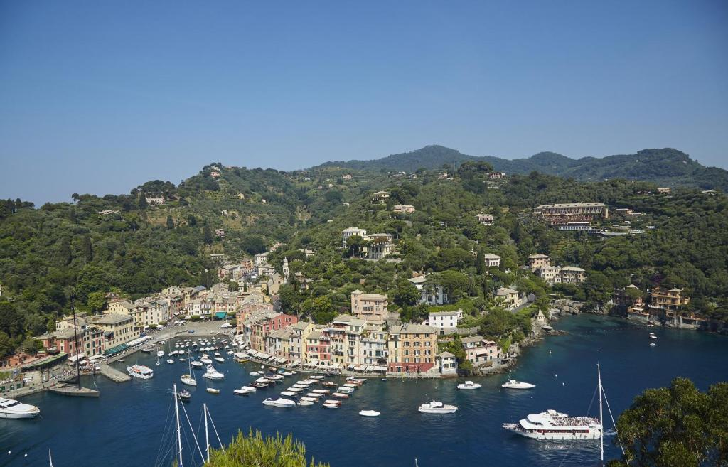 A bird's-eye view of Splendido, A Belmond Hotel, Portofino