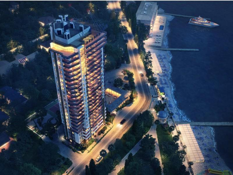 Apartment Panorama Park Chernomorskaya с высоты птичьего полета