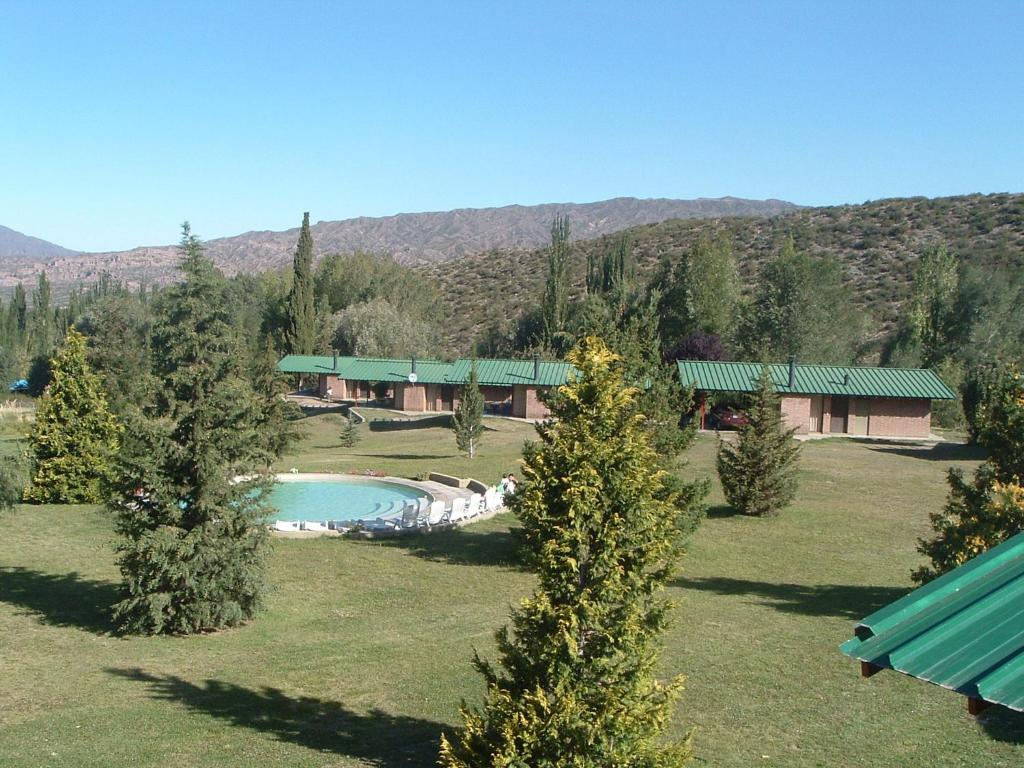 A view of the pool at Cabañas Andinas or nearby