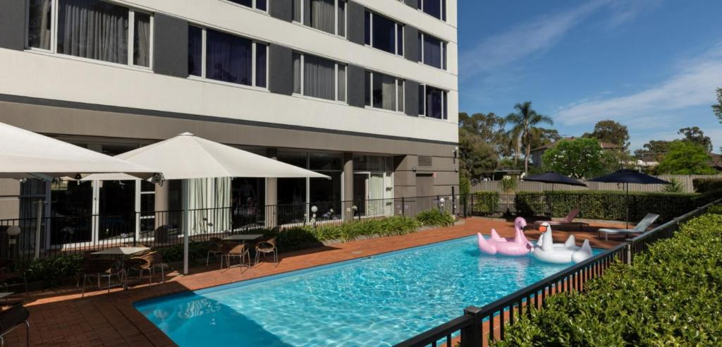 The swimming pool at or near Rydges Bankstown