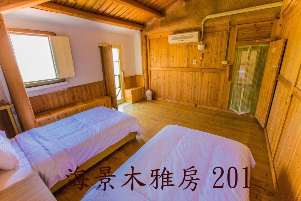 馬祖津沙客棧1館 房間的床