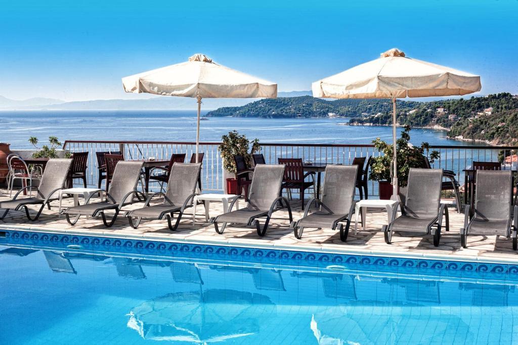 Πισίνα στο ή κοντά στο Poseidon Villas