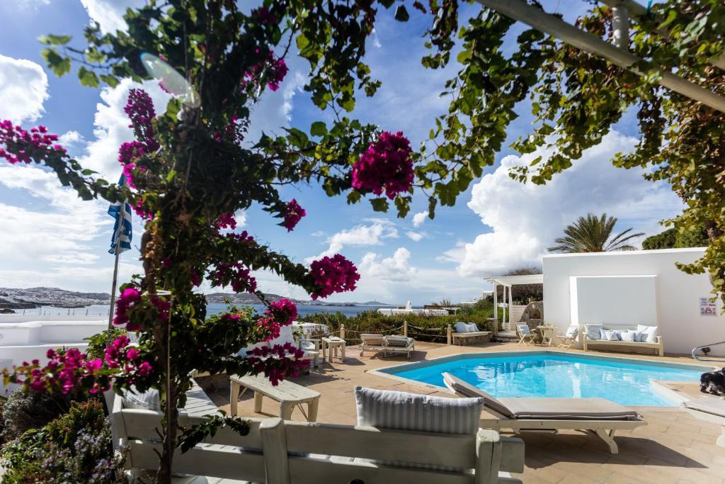 The swimming pool at or near Rhenia Hotel