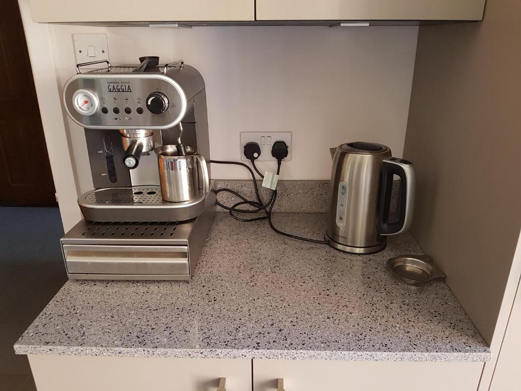 Coffee and tea-making facilities at The Barn Annexe