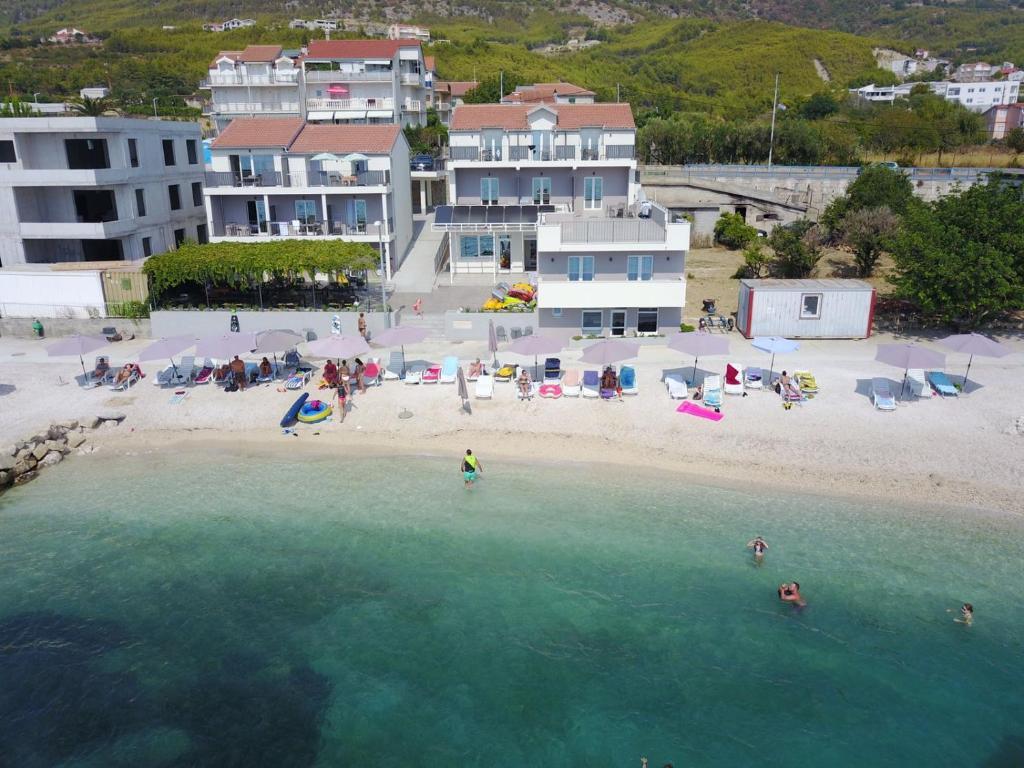 A bird's-eye view of Seaside Luxury Suites