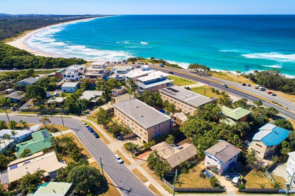 A bird's-eye view of Diamond Beach Resort
