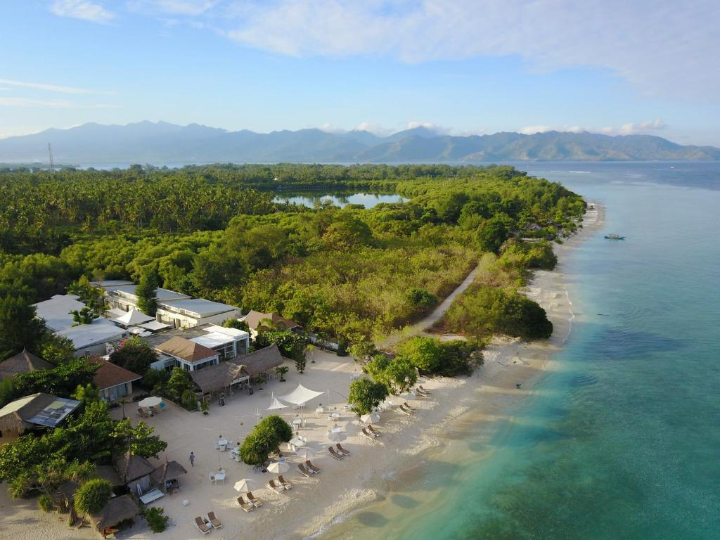 A bird's-eye view of MAHAMAYA Gili Meno