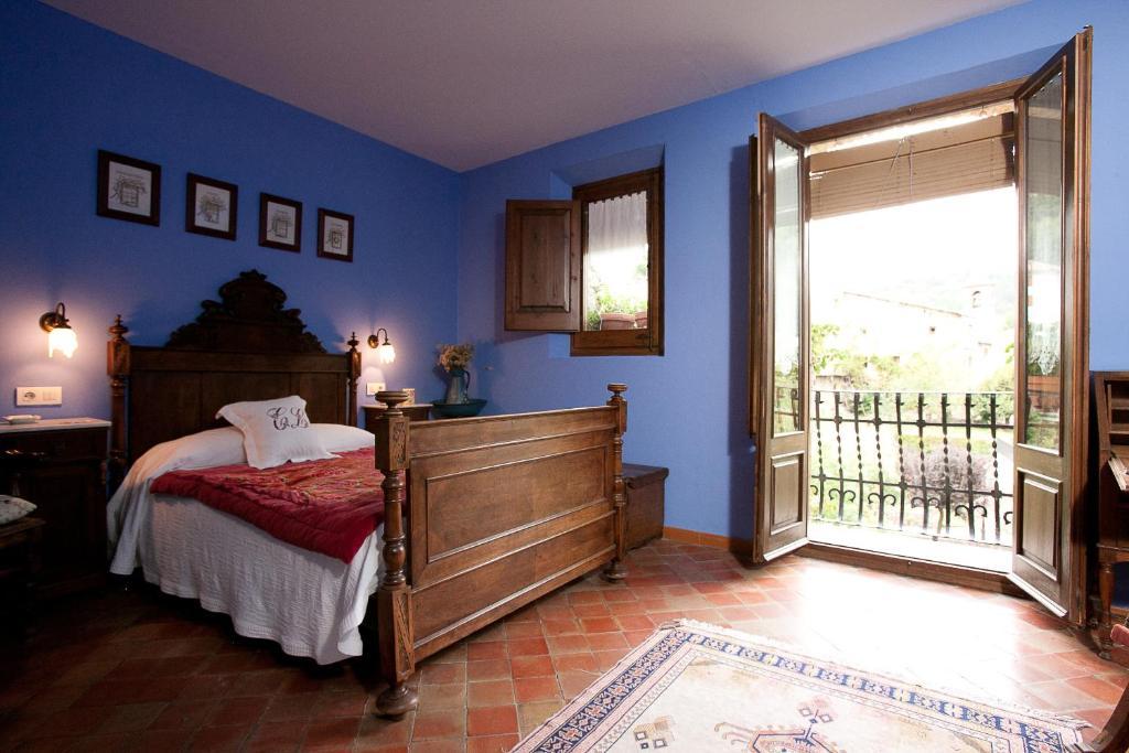 Cama o camas de una habitación en Casa Leonardo