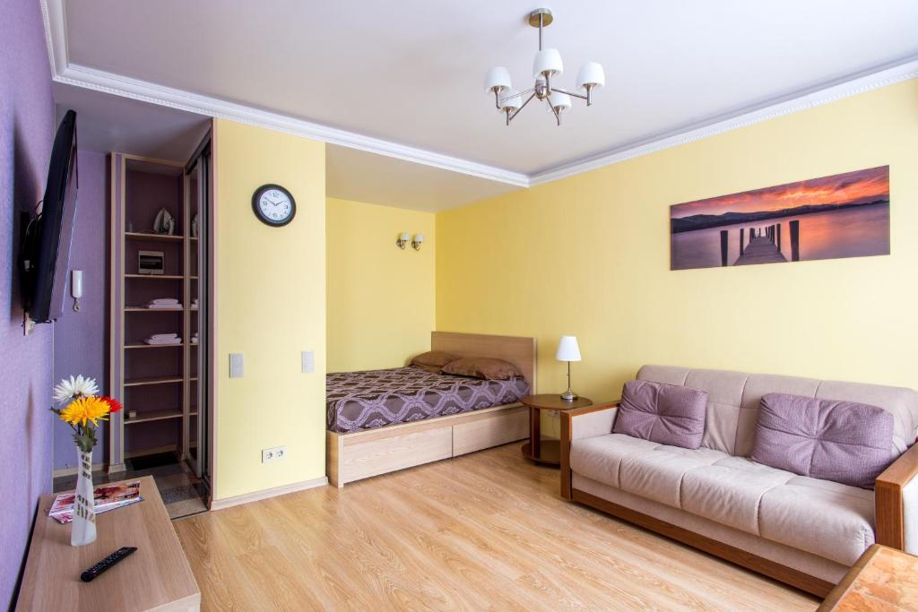 Гостиная зона в Apartment Na Chistyh prudah