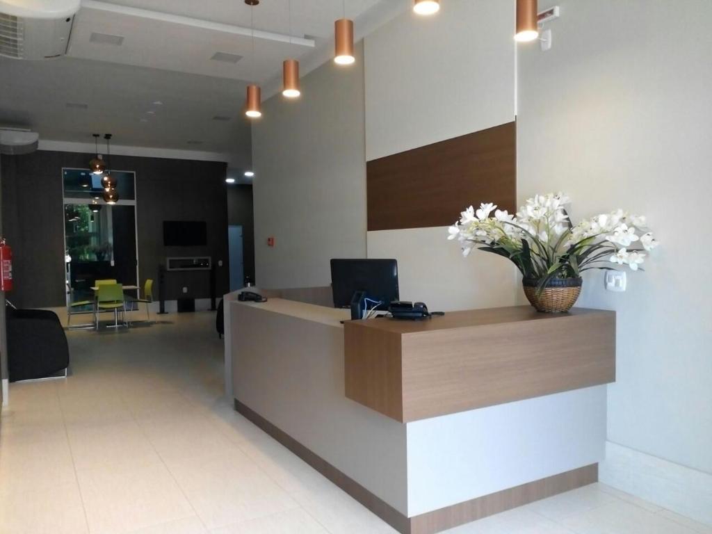 The lobby or reception area at Brito Hotel