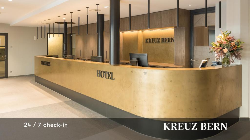 Lobby/Rezeption in der Unterkunft Kreuz Bern Modern City Hotel
