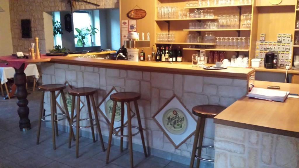 The lounge or bar area at Zum-Altbreitenfelderhof