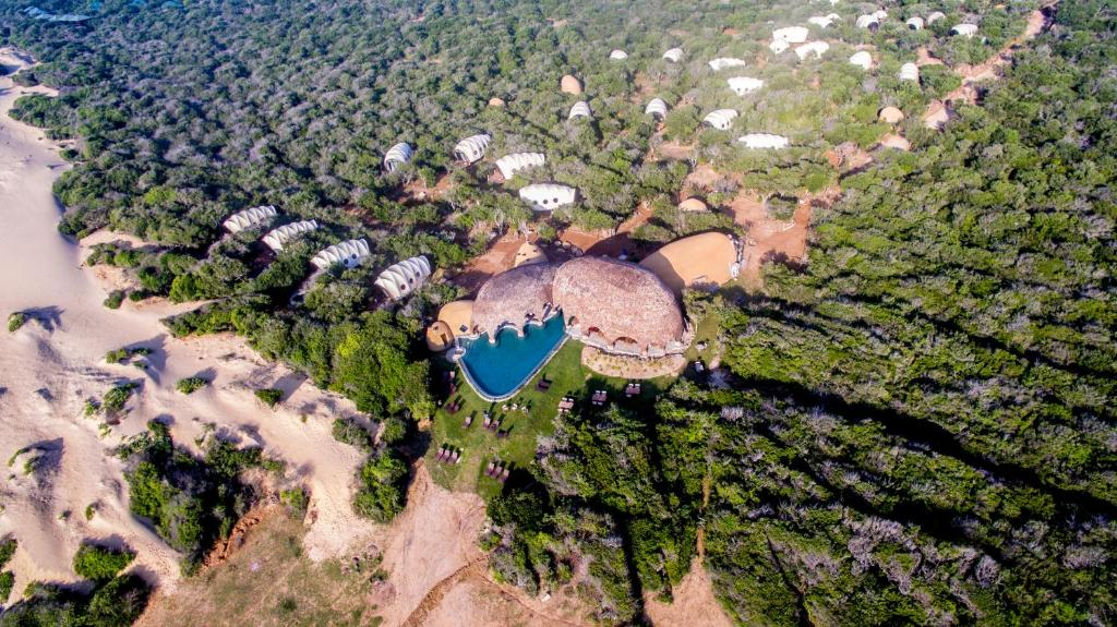A bird's-eye view of Wild Coast Tented Lodge All Inclusive - Level 1 Safe & Secure