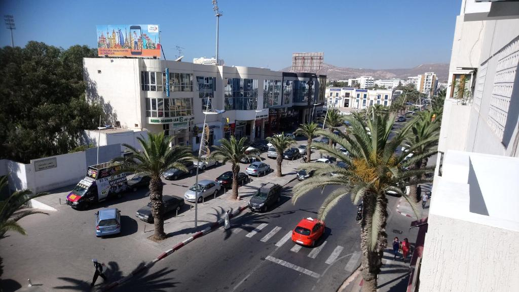 A general view of Agadir or a view of the city taken from the apartment