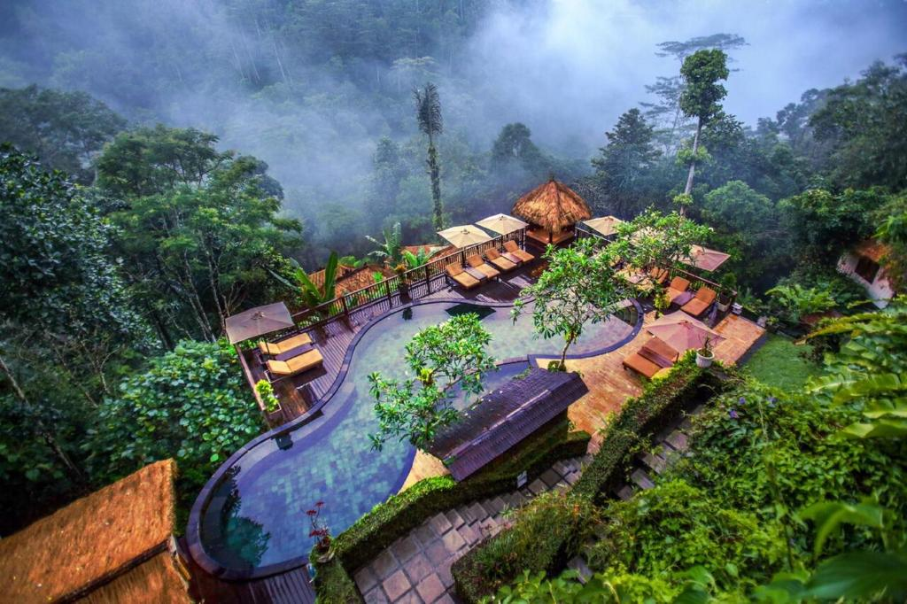 Een luchtfoto van Nandini Jungle Resort & Spa Bali