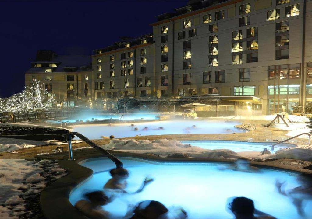 The swimming pool at or near Fairmont Tremblant