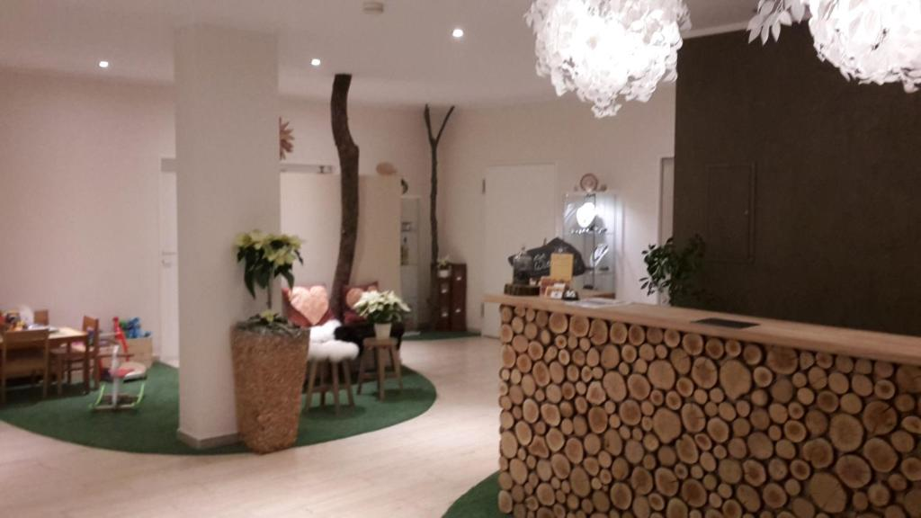The lobby or reception area at Hotel-Restaurant Sonnenhof