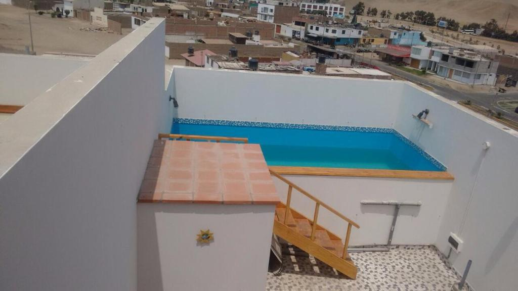 A view of the pool at Departamentos Playa San Bartolo or nearby