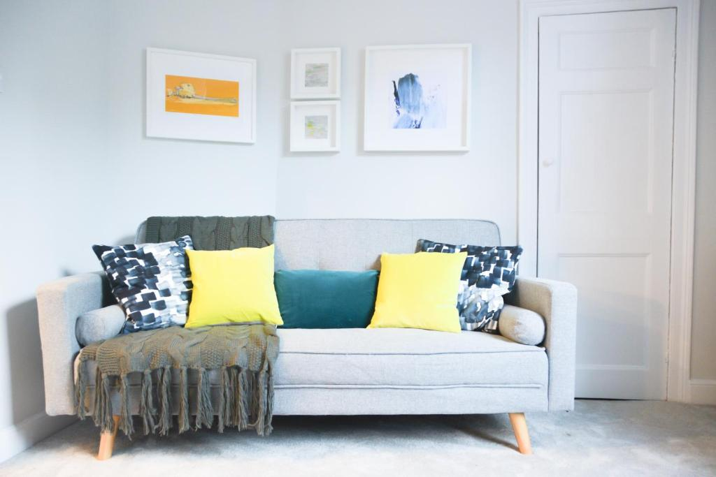 A seating area at The Apartment, Bath