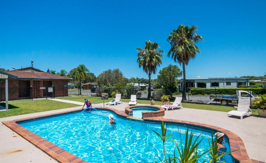The swimming pool at or near Yamba by Gateway Lifestyle Holiday Parks