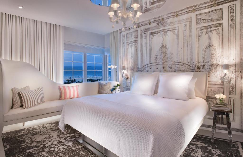 A room at the SLS South Beach.