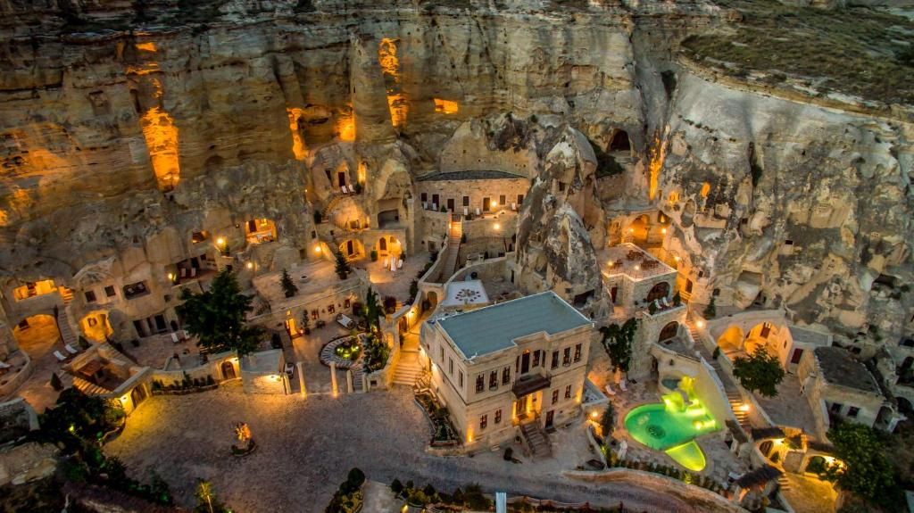 A bird's-eye view of Yunak Evleri Cappadocia
