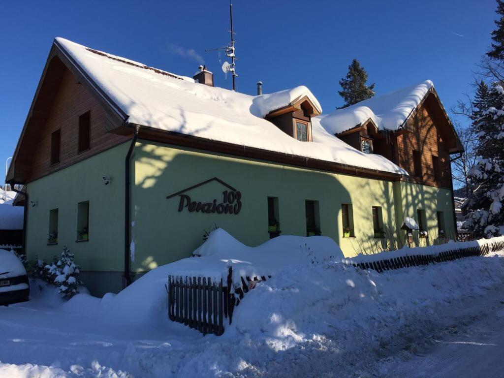 Penzion 103 v zimě