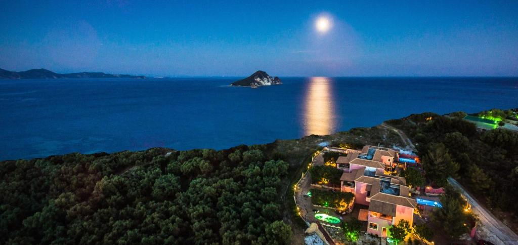 A bird's-eye view of Athenea Villas Private pools & private gardens totally individual