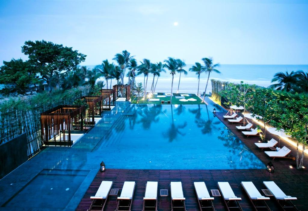 The swimming pool at or close to Cape Nidhra Hotel