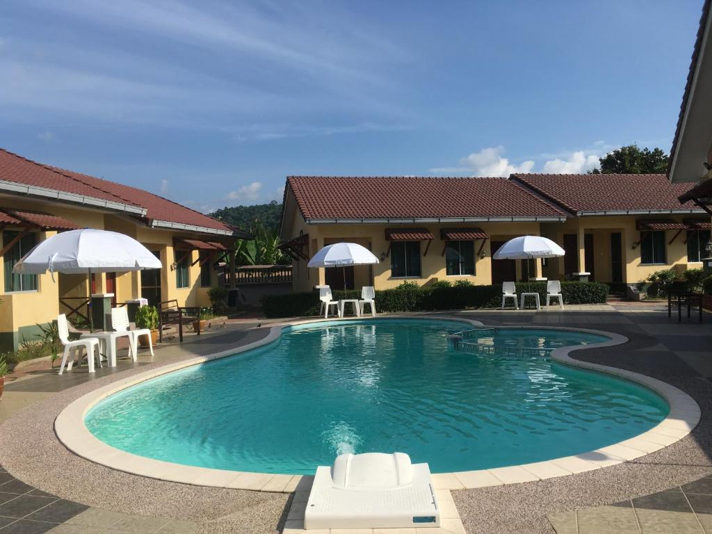 The swimming pool at or near New Dawn for Langkawi
