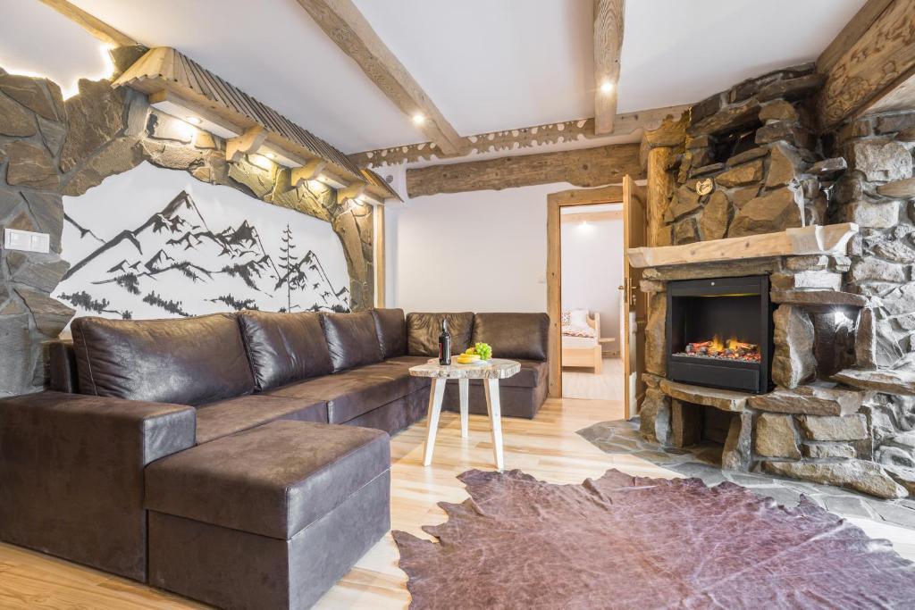 Część wypoczynkowa w obiekcie Apartamenty Kiry Zakopane