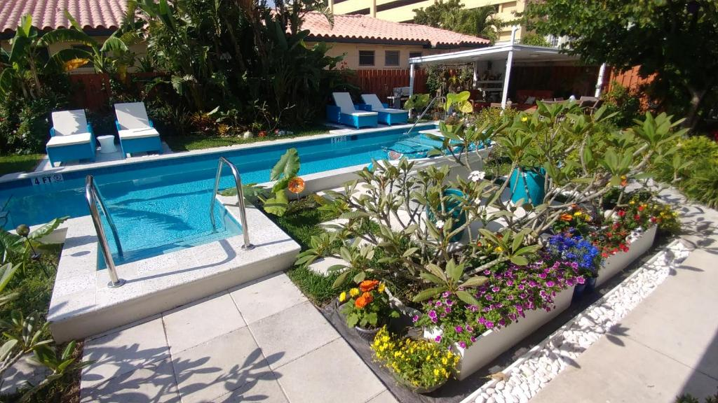The swimming pool at or near Downtown Hollywood Boutique Hotel