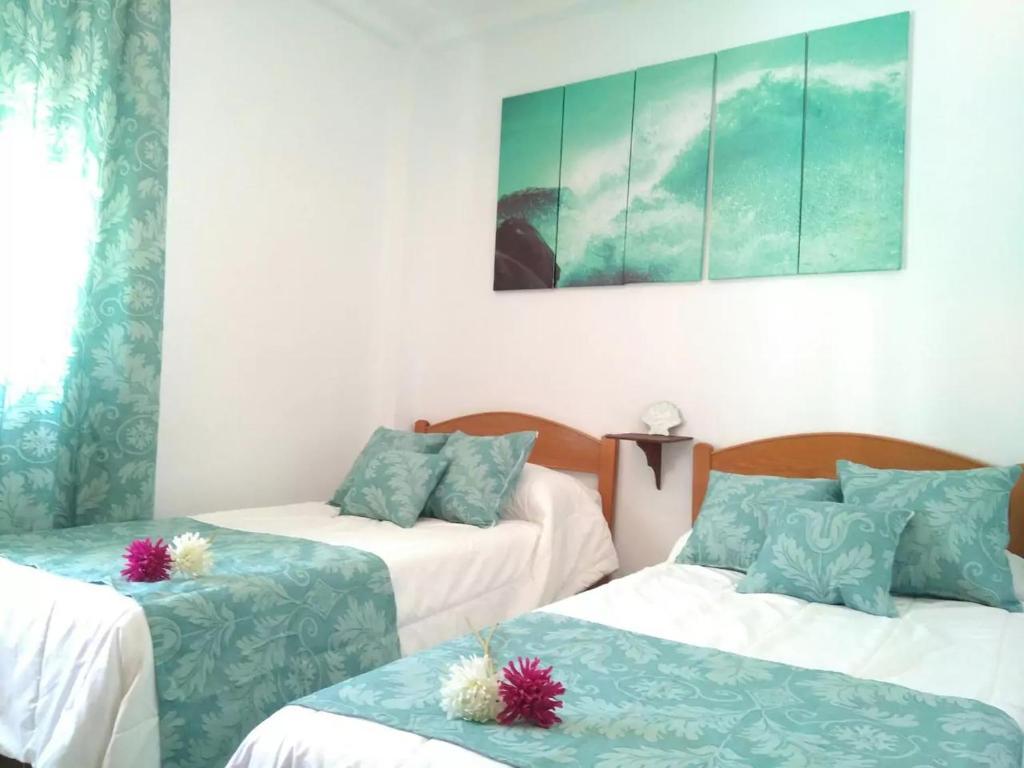 Cama o camas de una habitación en Apartamento Primero